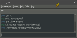 screenshot of 'echo' chat